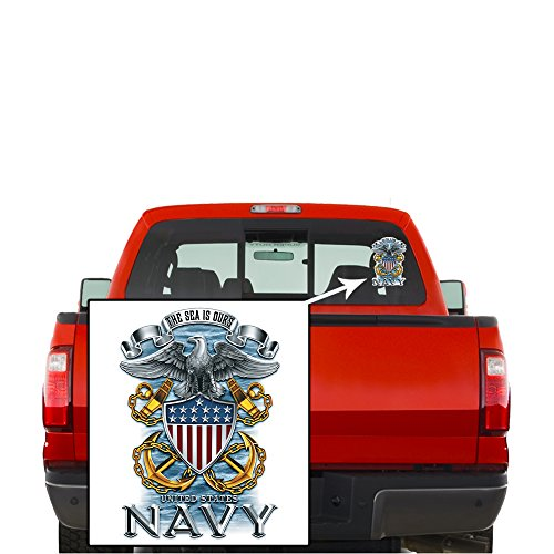 Collectible Navy Decals (4in), Share your Appreciation and Support with our Vinyl Navy Full Print Eagle Stickers for your Home, Car, Cases and more, Souvenir Gifts for Navy Sailors