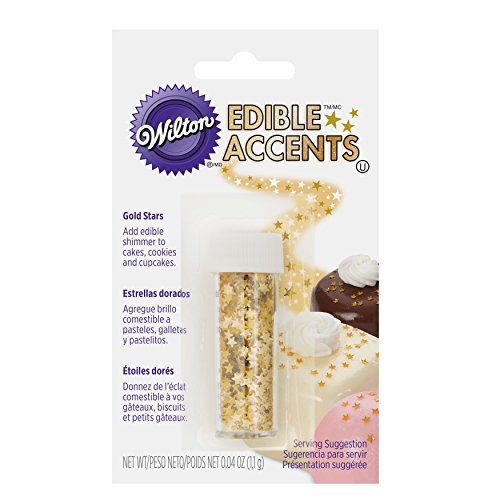 Wilton Edible Glitter, Gold Stars, 0.04 Ounce Edible Decoration
