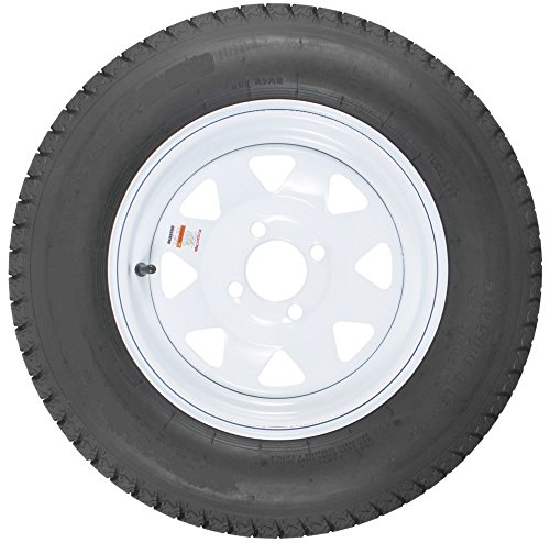 - 4-Hole High Speed Spoked Rim Design Trailer Tire Assembly - ()