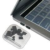 "PortPlugs - USB C Anti Dust Plugs Set (17 Piece) - Compatible Latest 12"", 13"" and 15"" Mac Laptops, USB Type-C Phones, Headphone Jack Covers and Case (Black)"