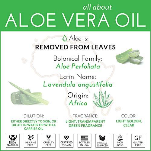 ArtNaturals Aloe - Hair and Body 100% - for Burn, Eczema, Bites, Aging skin, Acne