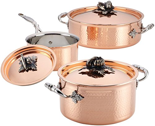 Ruffoni Opus Cupra 6-Piece Cookware Set, Copper