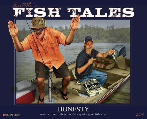 Buck Wear's Fishing Tales 2014 Wall Calendar by Willow Creek Press