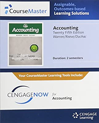 CengageNOW™, 2 terms Printed Access Card for Warren/Reeve/Duchac's Accounting, 25th