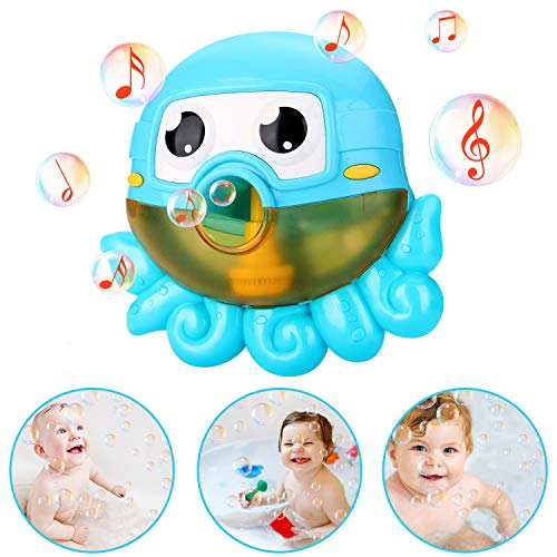 NextX Bath Toys Bubble Machine Octopus Musical Toys for Kids