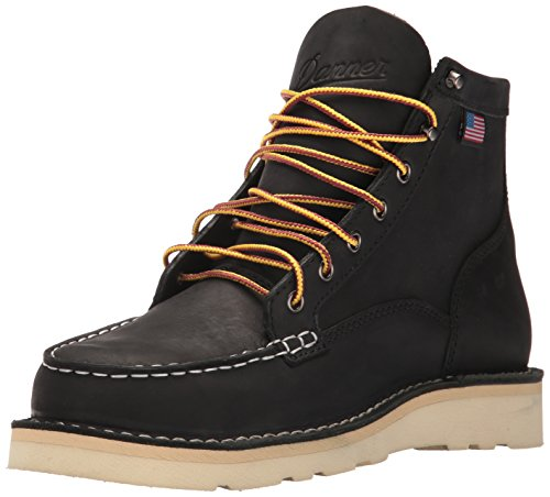 Danner Men's Bull Run Moc Toe Steel Toe Work Boot, Black, 11 2E US