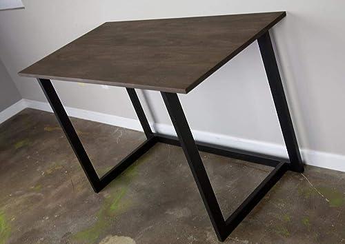 Amazon Com Reclaimed Wood Desk Minimalist Design Home Office Table Handmade