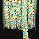 Yellow, Pink, and Blue Looped Braid Craft Ribbon .625' x 44 Yards deal 2017