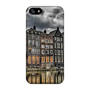 GLS954GuSB Tpu Case Skin Protector For Iphone 5/5s House Reflected On Water With Nice Appearance