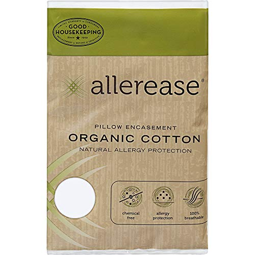 Aller-Ease AllerEase Organic Cotton, King Pillow Protectors, White