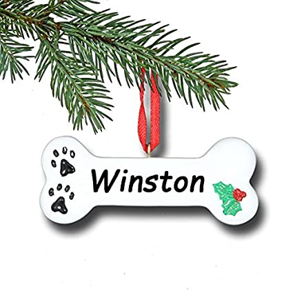 Amazon.com: Personalized Dog Bone Christmas Ornament - 3 inches ...