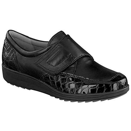 ara Womens L.Velcro Shoes Black Wide H Size 7.5 B(M) US