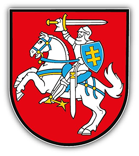 Lithuania Coat Of Arms Vinyl Decal Bumper