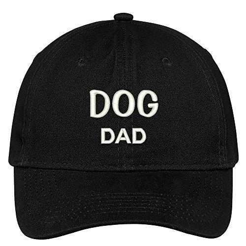 Deluxe Cotton Cap - Trendy Apparel Shop Dog Dad Embroidered Low Profile Deluxe Cotton Cap Dad Hat - Black