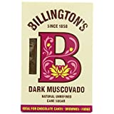 Billington's Natural Unrefined Dark Muscovado Cane Sugar (500g) - Pack of 2