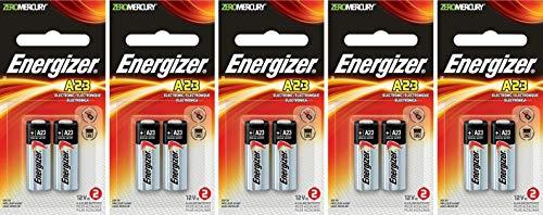 5 X 2 Energizer A23 21/23 23A MN21 GP23 12v Alkaline Garage Door Opener 10 Batteries
