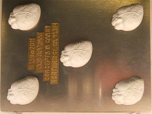 Human Heart Truffle Candy Mold H159 Halloween Chocolate Candy Mold