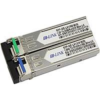 EB-LINK 1 Pair Cisco Compatible GLC-BX-U & GLC-BX-D 1.25G 1310/1550nm 3KM BIDI WDM SFP Transceiver Module