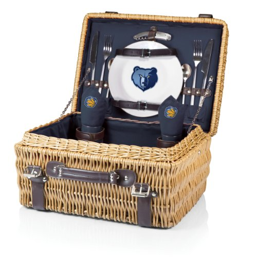 NBA Memphis Grizzlies Champion Picnic Basket with Deluxe Service for Two