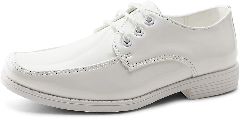 JABASIC Boys School Uniform Dress Shoes Lace-up Formal Shoes