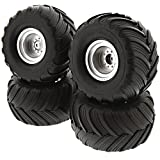 Traxxas 1 10 Skully 2WD FRONT & REAR TERRA GROOVE TIRES & 12mm SATIN WHEELS