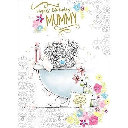 Me To You Bear Feliz cumpleaños mamá me Tarjeta del oso a ...