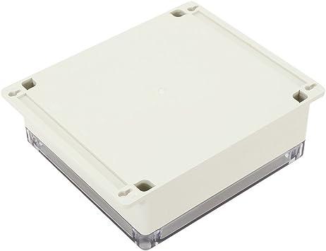 Boite de jonction ABS Enceinte de projet universelle w Pc couverture transparente TOOGOO 7,6 pouces x7,4 pouces x2,8 pouces 192 mm x 188 mm x 70 mm