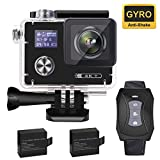 Aokon 4K Action Camera, ARC500 WiFi 16M Waterproof Underwater Ultra HD Sports Video Cam with 2' Dual Screens/170° Adjustable Wide Angle Lens/Rechargeable Remote Control/2 Batteries/20 Accessories Kits