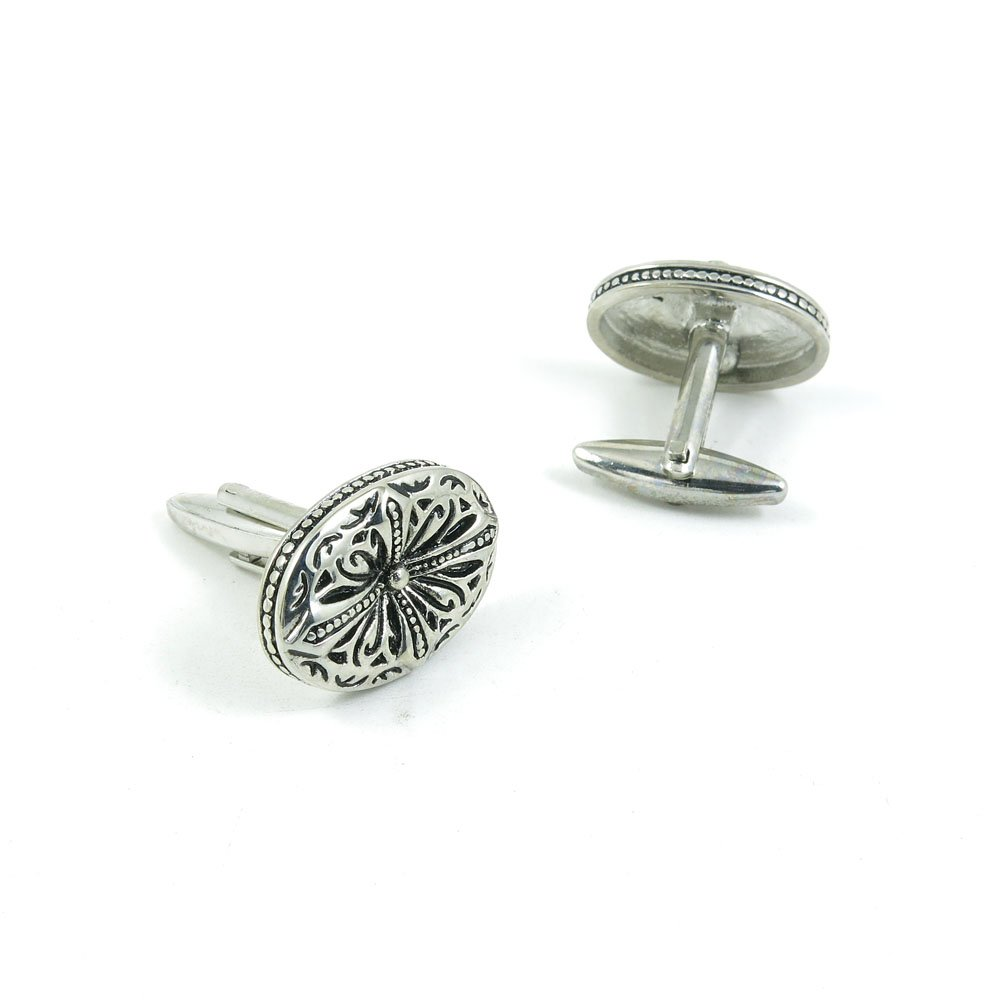 50 Pairs Cufflinks Cuff Links Fashion Mens Boys Jewelry Wedding Party Favors Gift YXF028 Retro Roman Cross Ovral