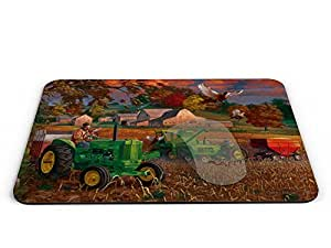 lintao diy Country farm scenery Rectangle Mouse pad - Mouse Pad / Mouse pad / Mousepad / Mousepad - AArt #MP028 (9.84 X 7.87 inches)