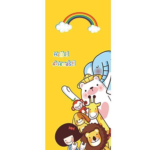 WKLMV 3D Door Stickers 95X215Cm Cute Lion Tiger Cartoon ...