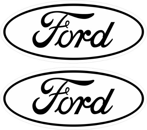2 white ford emblem decals stickers 04