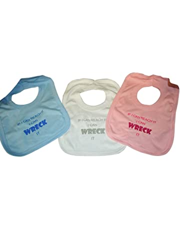 c8c9a3a2f 100% Cotton Blue Pink White Baby Boys Baby Girls Generic Embroderied  Personalised Bibs (if
