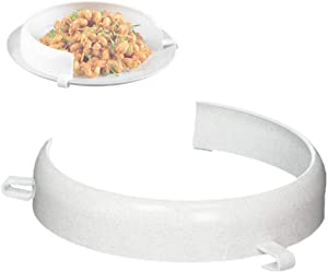 Food Plates Guard - Parkinson Patients Scooping Food Clip-On Spill Prevention Kitchen Living Eating Aid Assistant Dining Assistive for Elderly, Disabled