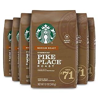 Starbucks Medium Roast Whole Bean Coffee — Pike Place Roast — 6 bags (12 oz. each)