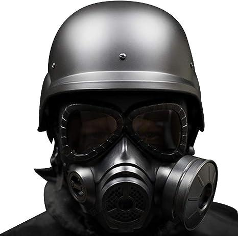 BBYaki Casco Táctico M88 Airsoft con Máscara de Gas de Rostro ...