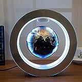 Magnetic Levitation World Map Rotates Floating Globe LED Light Self-Rotating Ball Anti Gravity