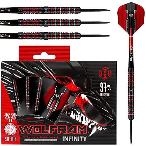 Harrows Darts - Harrows Wolfram Infinity 97% Tungsten Steel Tip Darts (24)