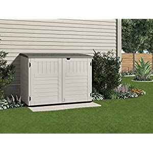 Suncast-BMS4700--Premium-Kensington-Garden-Storage-Box-Shed-Suitable-For-Storing-Two-Wheelie-Bins--Eight-Model-70-Cubic-ft-Capacity