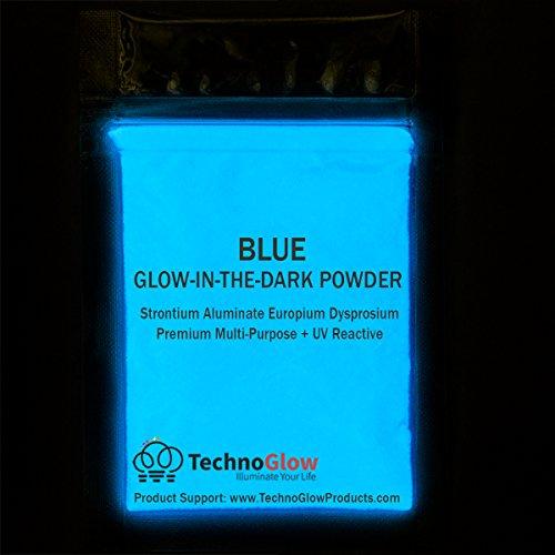 Blue Glow in the Dark & UV Reactive Pigment Powder - 500 Grams by Techno Glow Inc (Image #1)