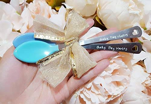 Personalized Baby Spoon - Personalized Baby Spoons for Baby Boys, Customized Baby First Spoon, Baby Show Gift, Baby Name Spoon, New Mom Gift