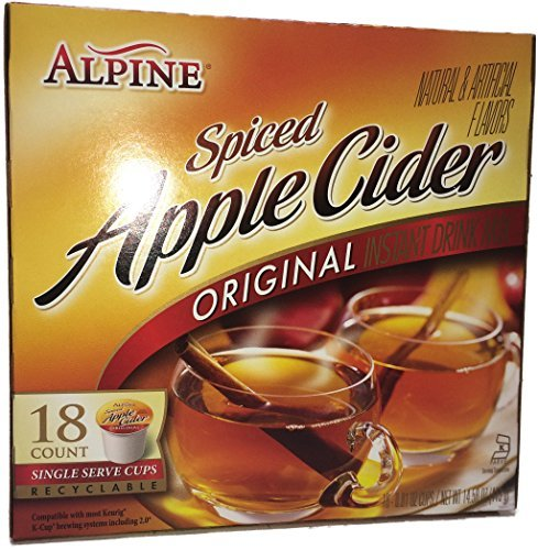 Alpine Spiced Apple Cider Single Serve Cups - 18 Count (Pack of 2)