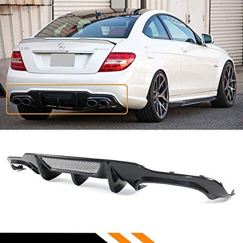 Fits for 2012-2014 BENZ W204 C200 C250 C300 C350 C63 AMG V Style Carbon Fiber Rear Bumper Diffuser W/Vent - Rear Amg Bumper