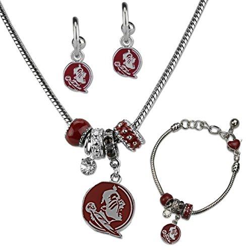 SANDOL Florida State Seminoles MVP Jewelry Combo (Bracelet, Necklace, Earrings) (Florida Logo State Charm Seminoles)