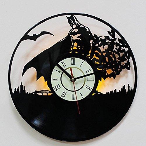 Amazon batman dark knight led lighting wall clock vinyl record batman dark knight led lighting wall clock vinyl record night light clock gift art decor aloadofball Images