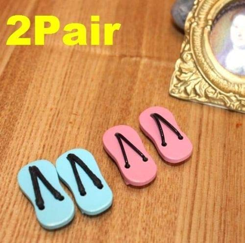 Brosco 2 Pairs Flips Flops 1:12 Scale Dollhouse Miniature Re-Ment Doll Home Scene ☆