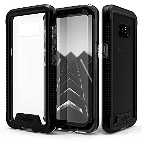 Samsung Galaxy Note 8 Case, Zizo [ION Series] with FREE [Curved Full Glass Screen Protector] Transparent Clear [Military Grade Drop Tested] Note - Series Note
