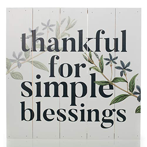 (P. Graham Dunn Thankful for Simple Blessings Sage Green 18 x 17 Pine Wood Boxed Pallet Plaque)