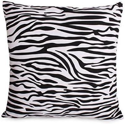 Amazon Com Taoson Black And White Zebra Print Cotton Blend Canvas Pillow Sofa Throw Pillow Case Decor Cushion Cover With Hidden Zipper Closure Only Cover No Insert White 20 X20 50x50cm Home Kitchen