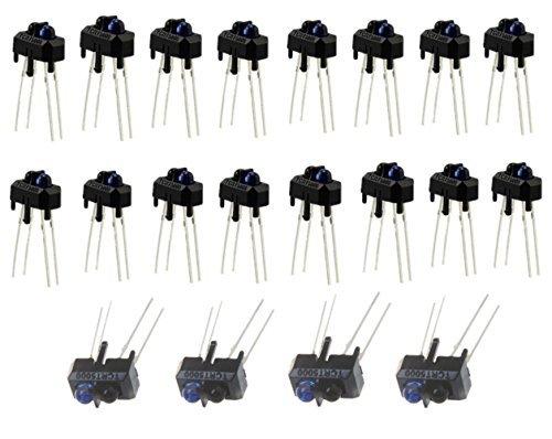 Sensor Slot - Ltvystore TCRT5000L TCRT5000 Photoelectric Sensors Reflective Optical Sensor with Transistor Output Infrared 950mm 5V 3A